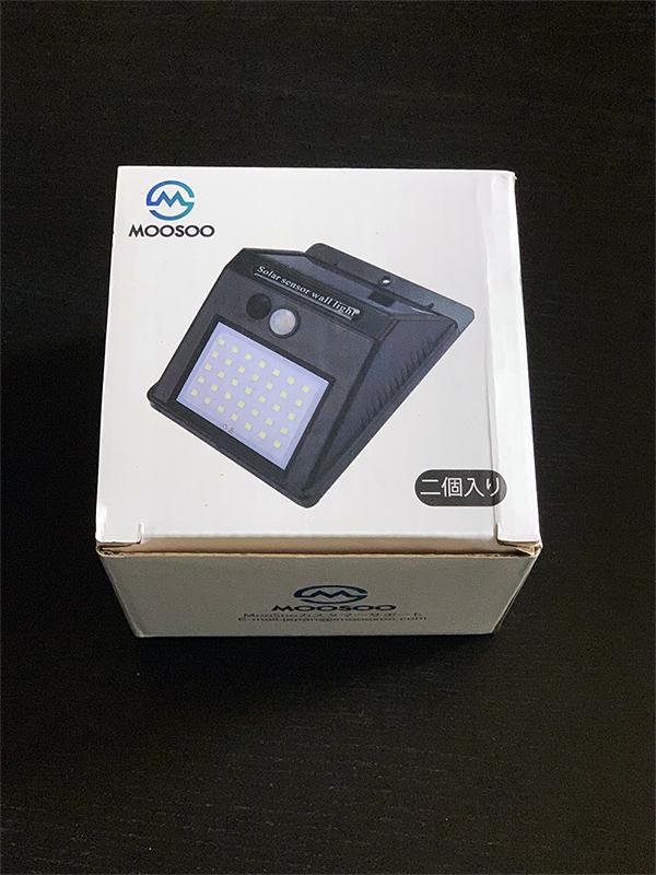 ソーラーライト 屋外 MOOSOO 35LED 箱