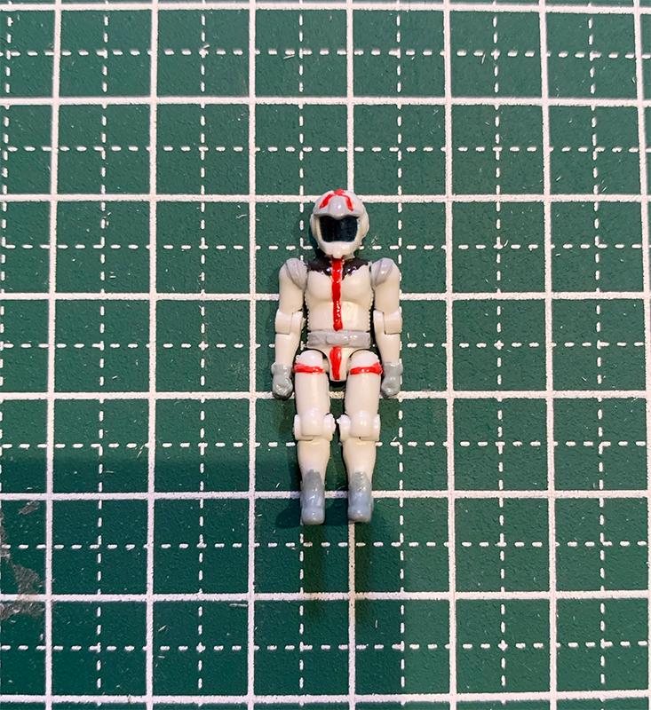 アムロ・レイのパイロットスーツ塗装