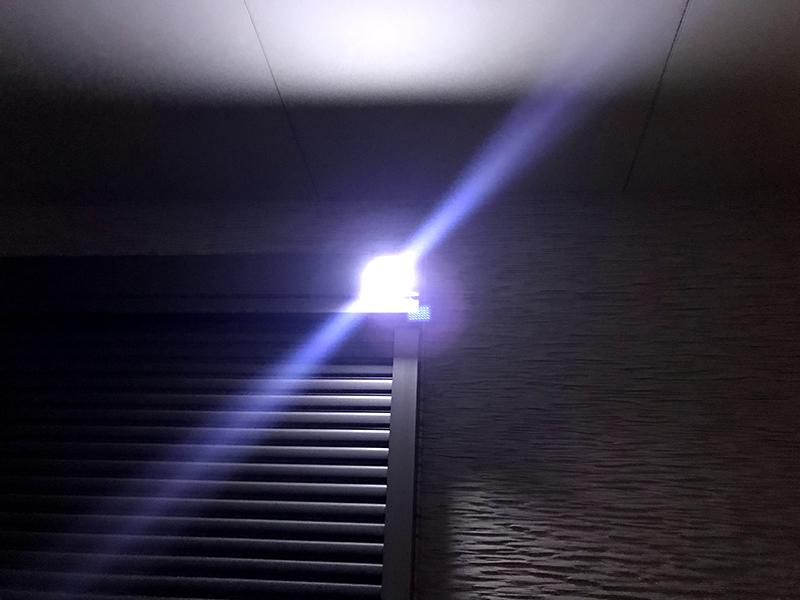 ソーラーライト 屋外 MOOSOO 35LED 実際の光量