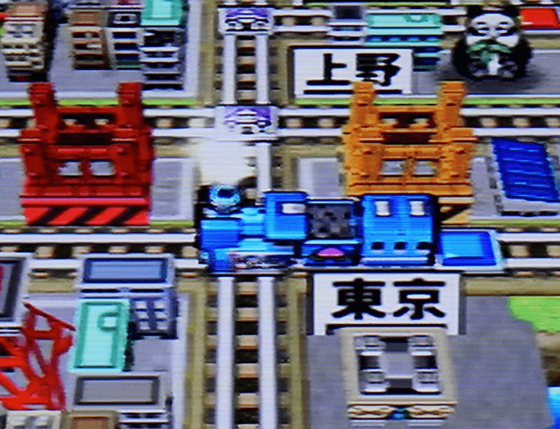 3色ケーブルで接続した画面