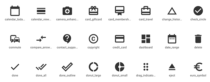 Google Material Icons アイコン例