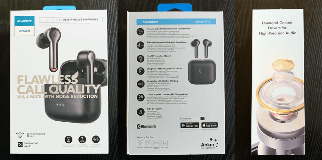 Anker Soundcore Liberty Air 2(完全ワイヤレスイヤホン Bluetooth 5.0)外箱