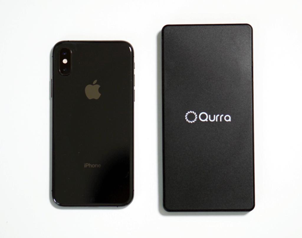 Qurra クルラ 電卓&デジタルメモ BUREW K-mo book mini ブリュー ケーモブック ミニ大きさ