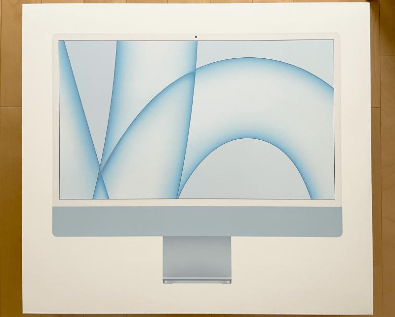 iMac2021(M1チップ)外箱表
